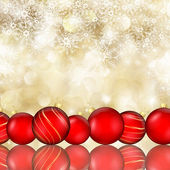 Christmas baubles and  snowflake background — 图库照片