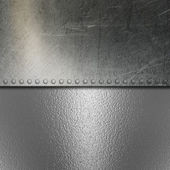 Grunge brushed metal and chrome background — Stock Photo
