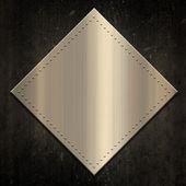 Gold metallic background on grunge — Stock Photo