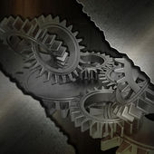 Grunge metal gears background — Stock Photo