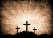 Grunge background with crosses  — Stock Photo
