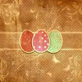 Grunge floral Easter egg background — Stock Photo
