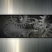 グランジ金属歯車の背景 — ストック写真