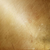 Grunge gold brushed metal — Foto Stock
