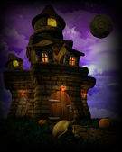Spooky Halloween Castle — Stock Photo