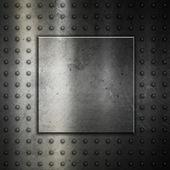 Studded metal background — Foto de Stock