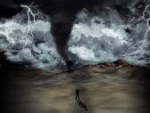 Tornado storm — Stock Photo