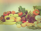 Vintage fruit and vegetables — Stock Photo
