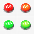 Red and Green Alert Buttons — Stock Photo