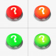 Stock Photo: Red and Green Alert Buttons