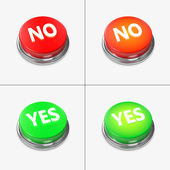 Red and Green Alert Buttons — Foto Stock