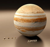 Jupiter met manen — Stockfoto