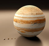 Jupiter with Moons blank — Stock Photo