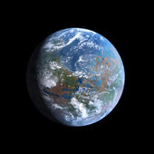 Planet Mars Terraformed — Stock Photo