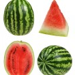 Setripe watermelon isolated on white background cutout — Stock Photo #18059205