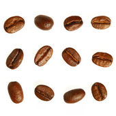 Coffee beans. Isolated on white background — Stok fotoğraf