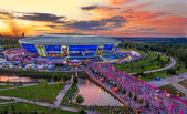 DONETSK, UKRAINE - JUNE 27: The Donbass Arena on June 27, 2012 in Donetsk, Ukraine — Stock Photo