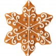 Star shape christmas gingerbread isolated on white background — Stock Photo