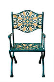 Ornate Patio Chair isolated — Stock Photo