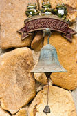 Closeup of antique rusty bell — Stock Photo