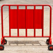 Crowd control barrier — Stock Photo