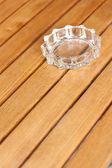 Glass ashtray — Stock Photo