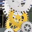 Set of gear wheels decoration — Stock Photo