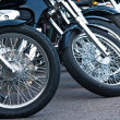 Stock Photo: Motorcycle wheels