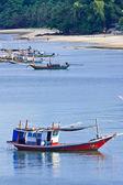 Barco de pesca tailandês — Foto Stock