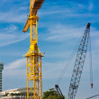 Construction site near Chao Phraya river — Stock Photo