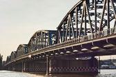 Steel bridge over the Chao Phraya River — Stock Photo