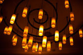 Ceiling lamps hanging — Stock Photo
