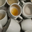 Dirty cups of coffee — Stock Photo