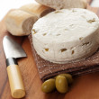 Homemade cheese — Stock Photo