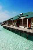 Bungalows in maldives — Stock Photo