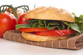 Sándwich de tomate y rúcula — Foto de Stock