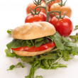 Stock Photo: Sandwich with tomatoes and arugula