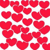Fondo con corazones de color rosa — Vector de stock