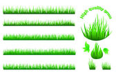 High quality grass set — Stock Vector