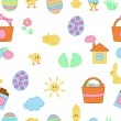 Seamless Easter texture — Stock Vector
