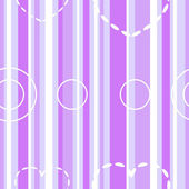 Seamless violet stripes with hearts and circles — Stock Vector