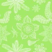 Kwiat zielony bezszwowe tło — Wektor stockowy