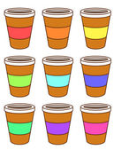 A set of coffee cups — Stock Vector