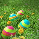 Ostern Eier Closeup auf dem Rasen — Stockfoto