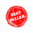 Bestseller red rubber stamp — Foto de stock #12018882