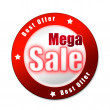 Special mega sale sticker — Stock Photo