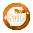 Special autumn sale sticker — Stock Photo