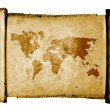 World map on vintage pattern — Stock Photo #12164927