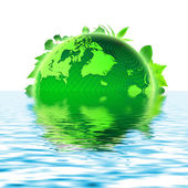 3D Green planet — Stock Photo