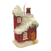 Christmas candle in the shape of the House. — Stock Photo